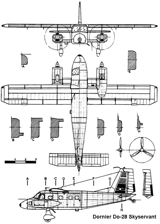 dornier28 3v model airplane plan