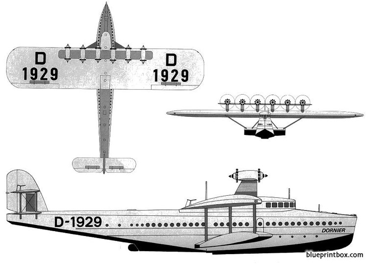 dornier do x 3 model airplane plan