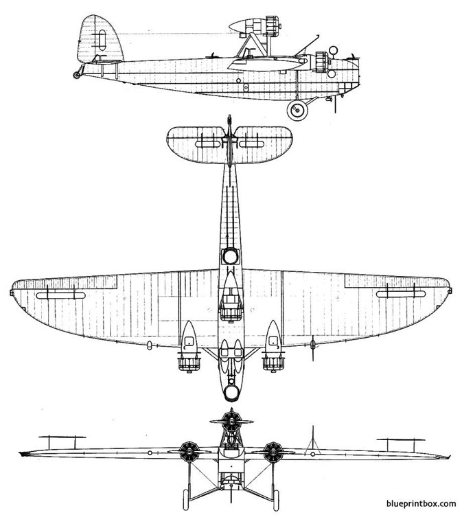 dornier do y model airplane plan
