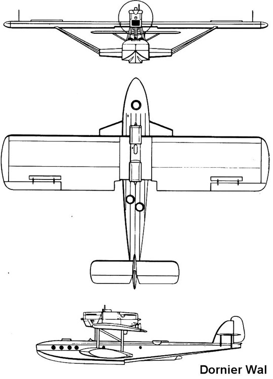 dornier wal 3v model airplane plan