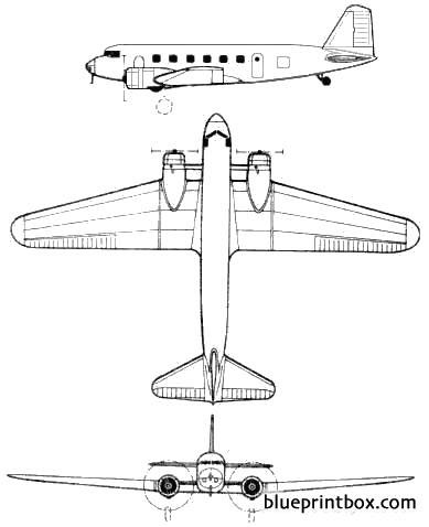 douglas dc 1 model airplane plan