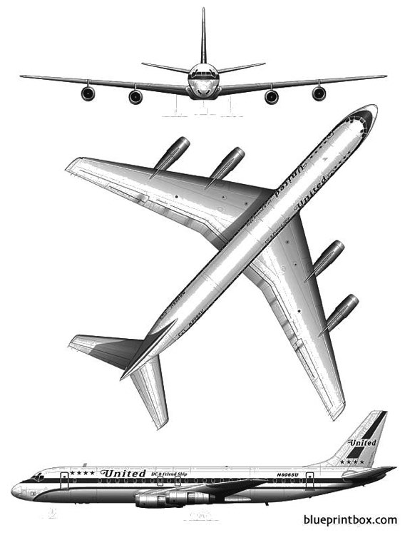 douglas dc 8 52 2 model airplane plan