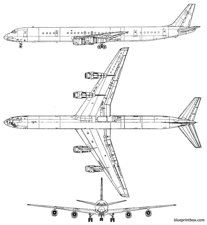 douglas dc 8 63 model airplane plan