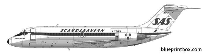 douglas dc 9 21 model airplane plan