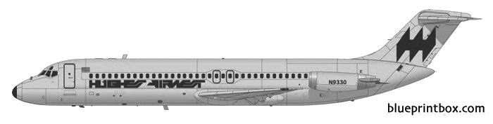 douglas dc 9 31 model airplane plan