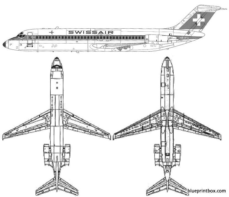 douglas dc 9 32 model airplane plan
