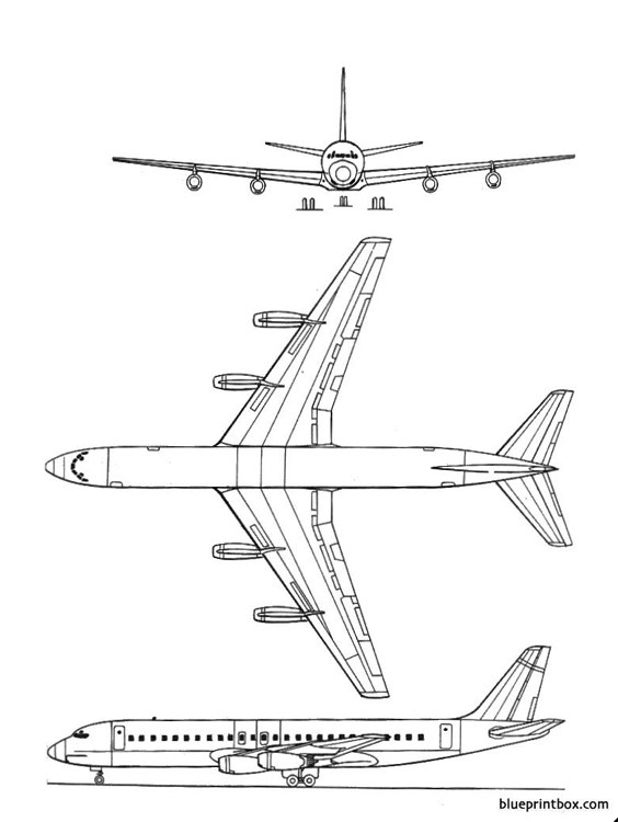 douglasdc 8 30 model airplane plan