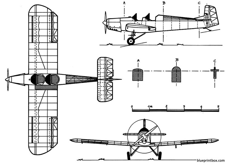 druine d 5 turbi model airplane plan