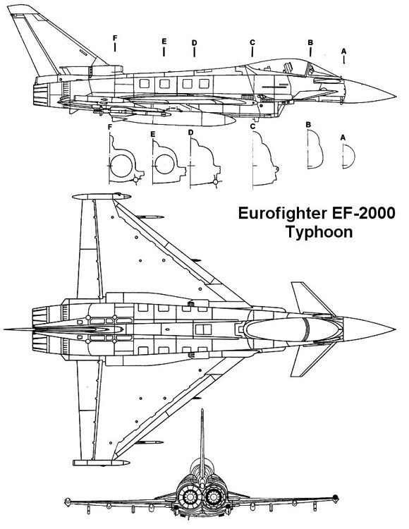 ef2000 2 3v model airplane plan