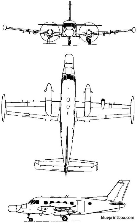 embraer emb 110 111 bandeirante 1968 brazil model airplane plan