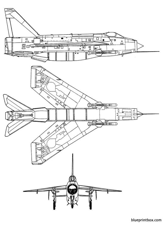 english electric lightning f 6 model airplane plan
