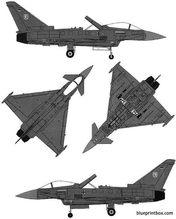 euro fighter ef 2000a typhoon 2 model airplane plan