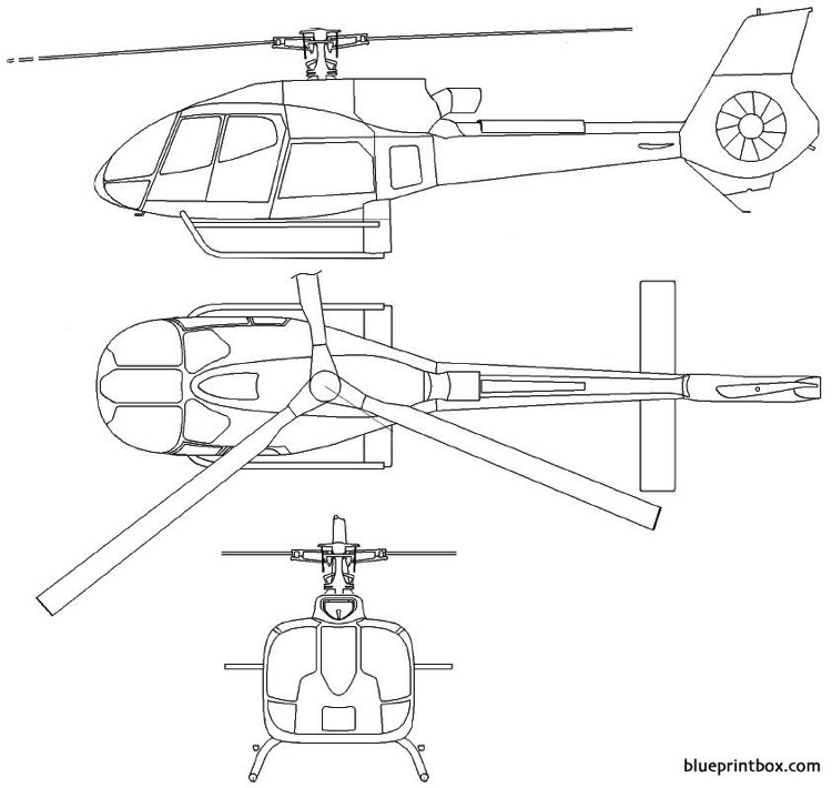 eurocopter 130 b4 model airplane plan