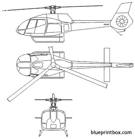 eurocopter 130 f model airplane plan