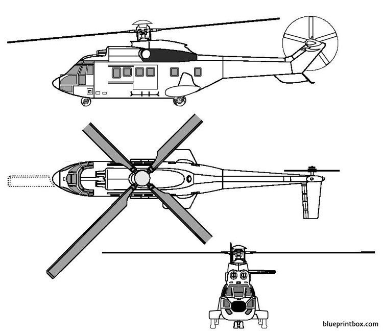 eurocopter td as 332 l1 model airplane plan