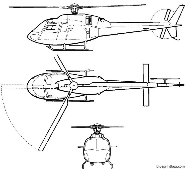 eurocopter td as 355 n model airplane plan