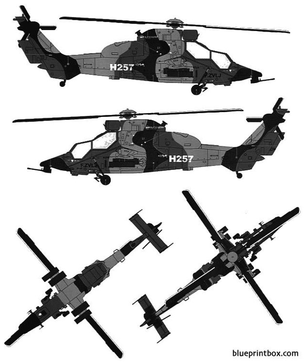 eurocopter tiger hap model airplane plan