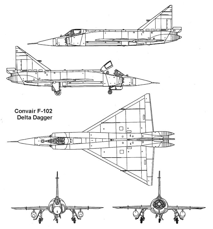 f102 3v model airplane plan