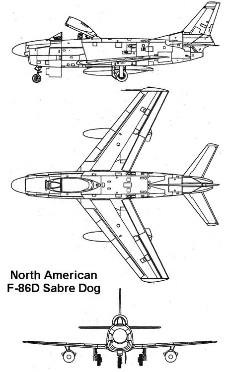 f86d 1 3v model airplane plan