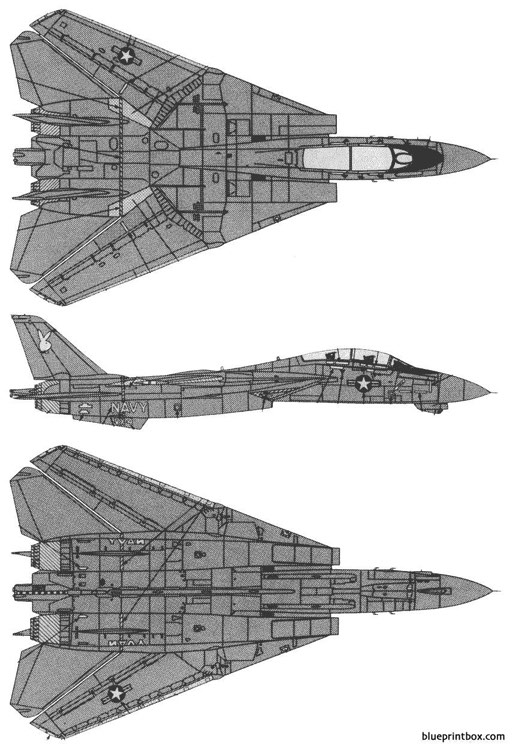 f 14a black tomcat model airplane plan
