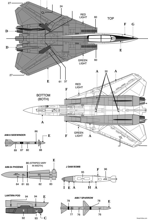 f 14b tomcat 2 model airplane plan