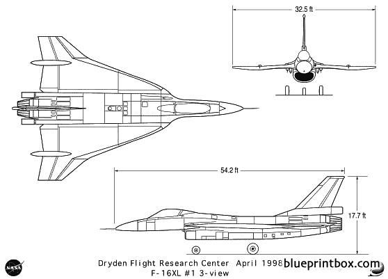 f 16xl 1 model airplane plan