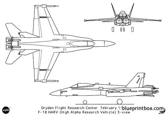 f 18harv model airplane plan
