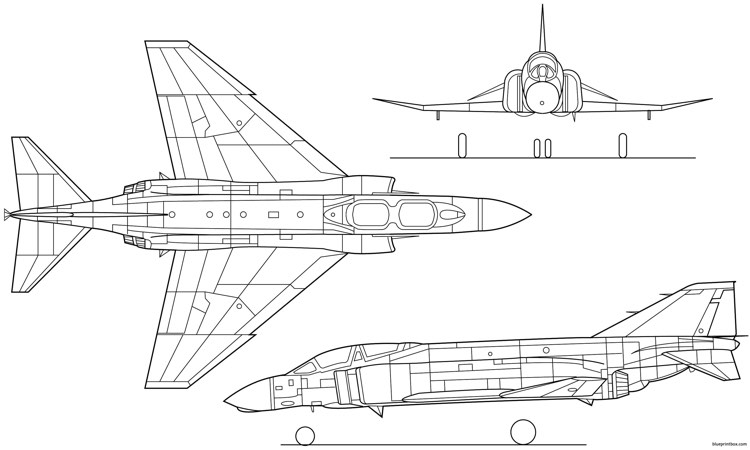 f 4 phantom 3 model airplane plan
