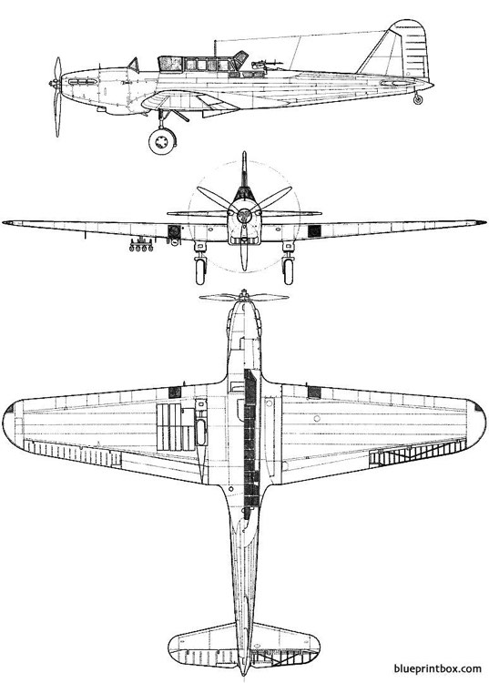 fairey battle mk i model airplane plan