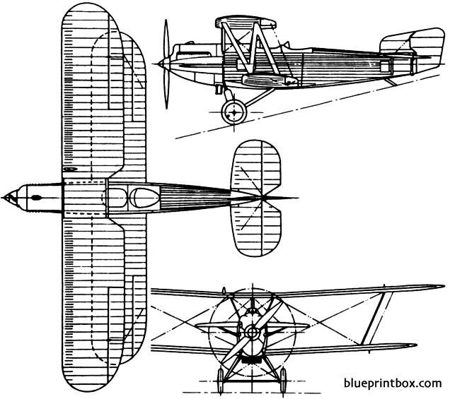 fairey fox 1925 england model airplane plan