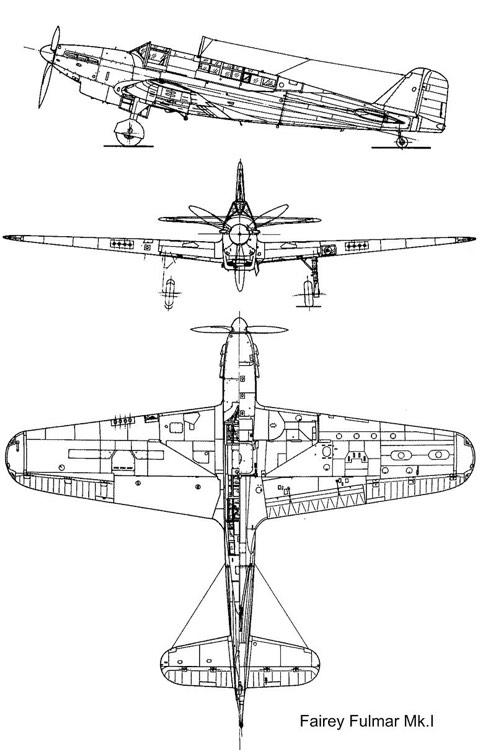 fairey fulmar 3v model airplane plan