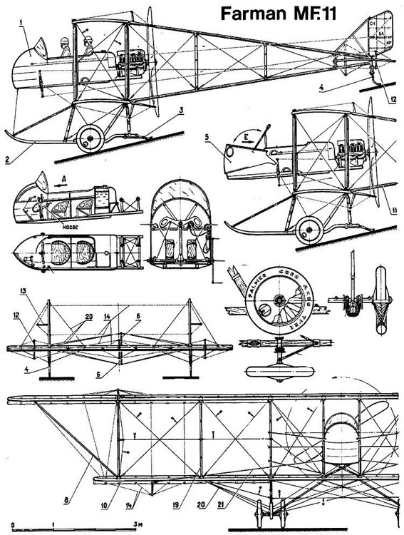 farman mf11 1 model airplane plan