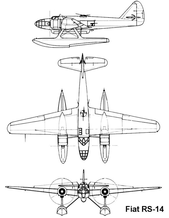 fiat rs14 3v model airplane plan
