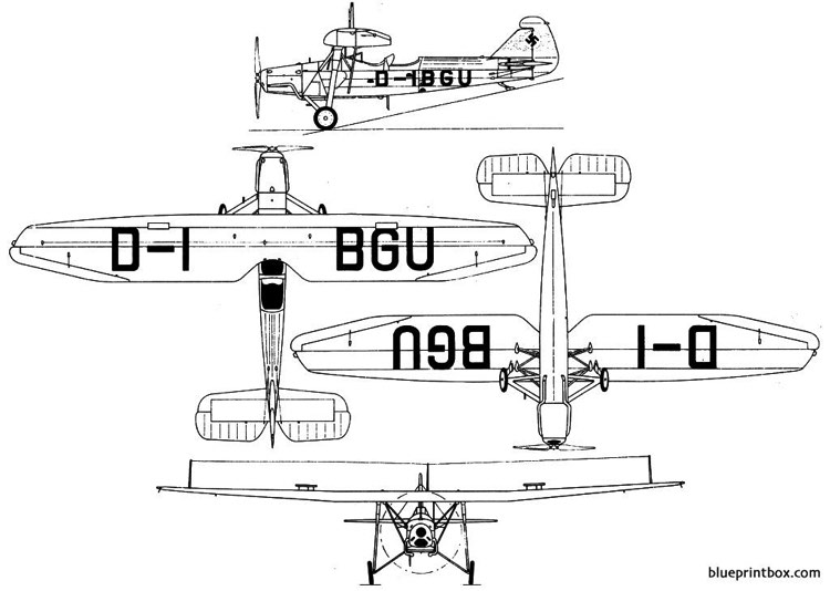 focke wulf fw 47d model airplane plan