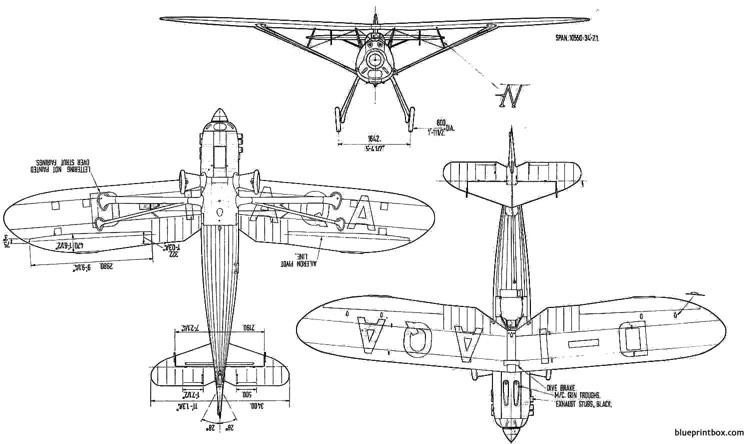 focke wulf fw 56 strosser 2 model airplane plan