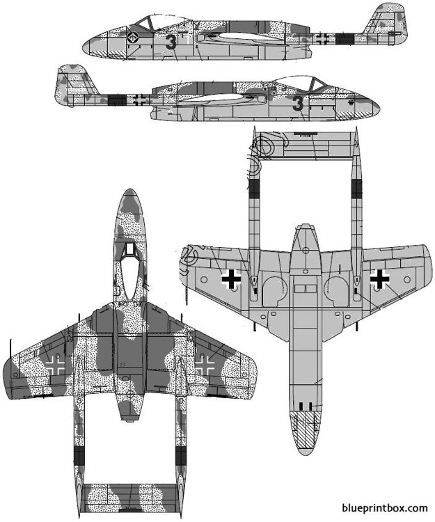 focke wulf tl jager flitzer p vii model airplane plan