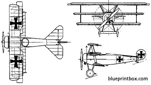 fokker dr 1 triplane model airplane plan