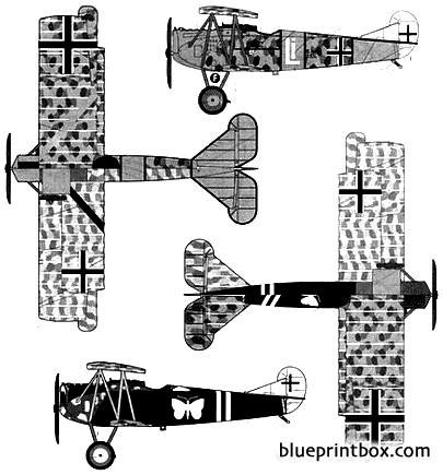 fokker dvii 1918 2 model airplane plan