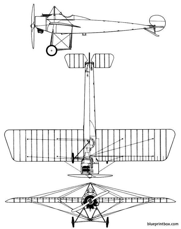 fokker e iv eindecker model airplane plan
