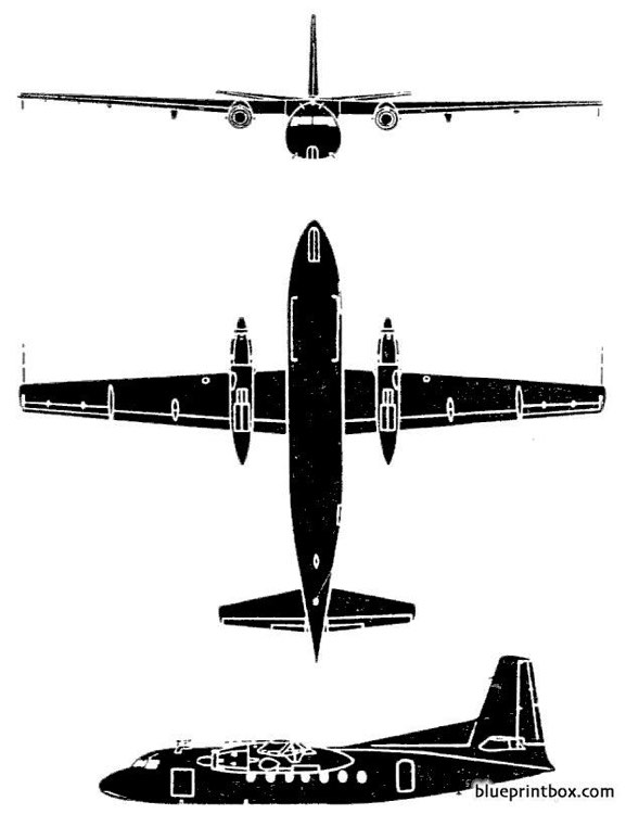 fokker f 27 troopship model airplane plan