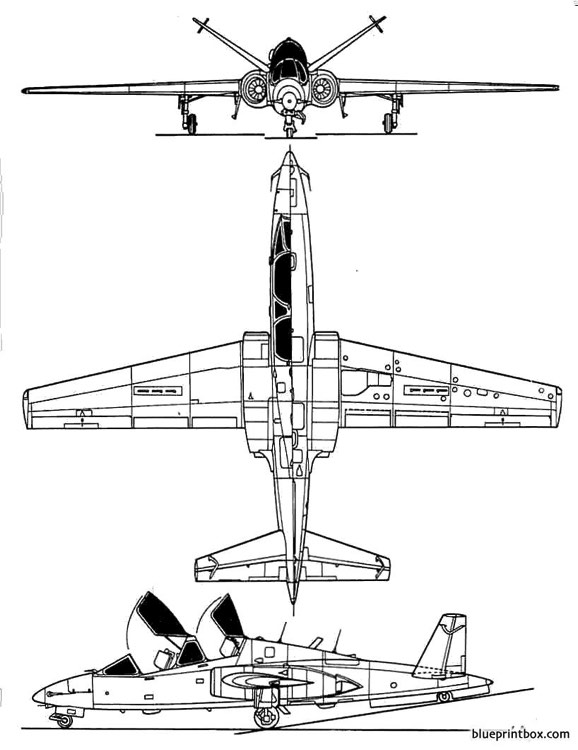 fouga90 model airplane plan