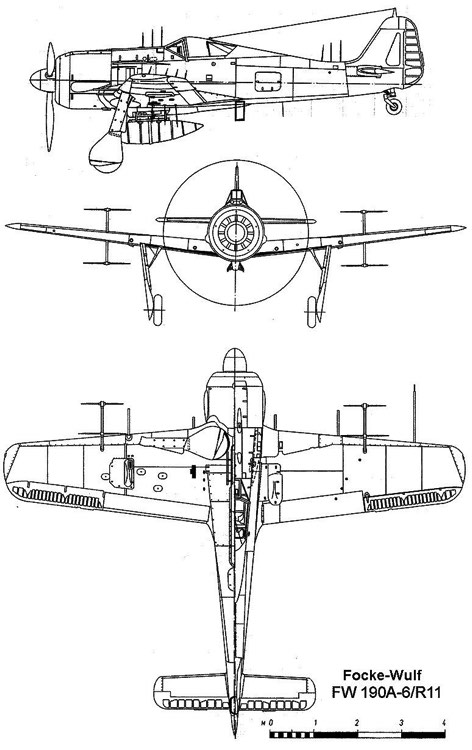 fw190a6 3v model airplane plan