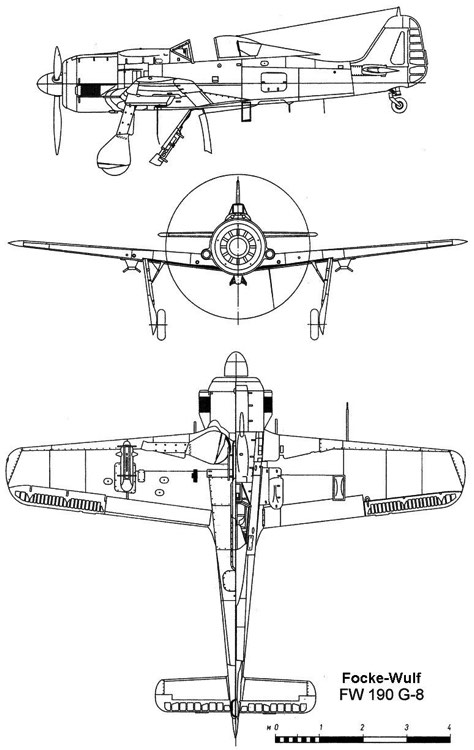 fw190g8 3v model airplane plan