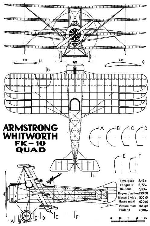fx10 quad 3v model airplane plan
