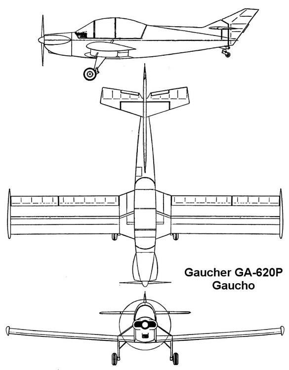 gaucho 3v model airplane plan