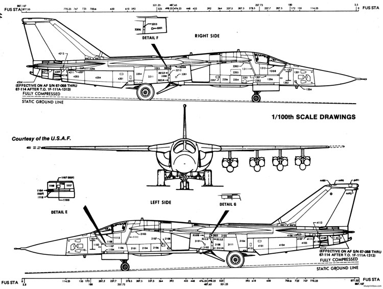 general dynamics f 111 16 model airplane plan
