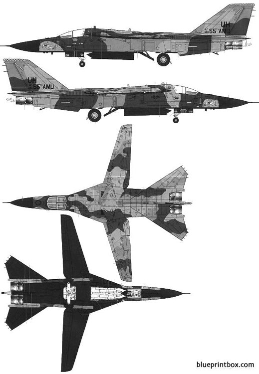 general dynamics f 111e aardvark model airplane plan