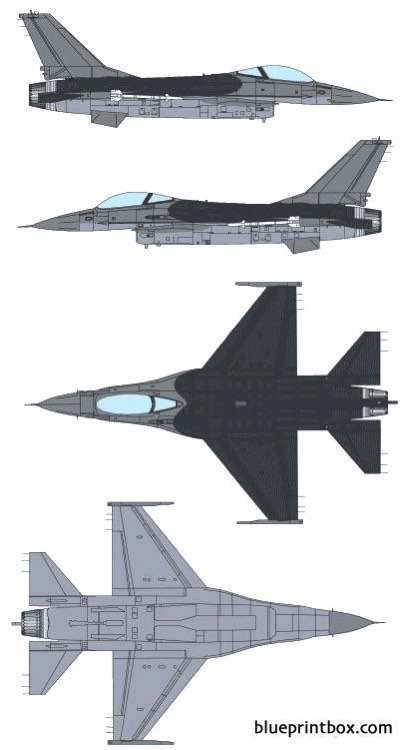general dynamics f 16a fighting falcon 2 model airplane plan