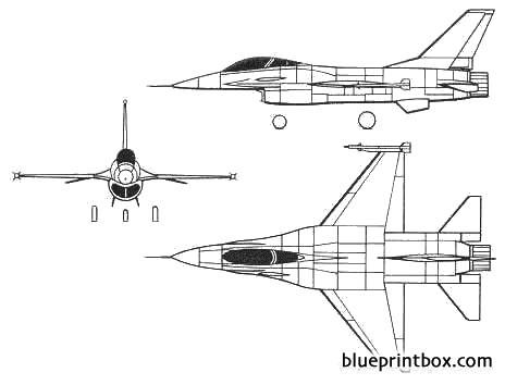 general dynamics f  16a fighting falcon model airplane plan