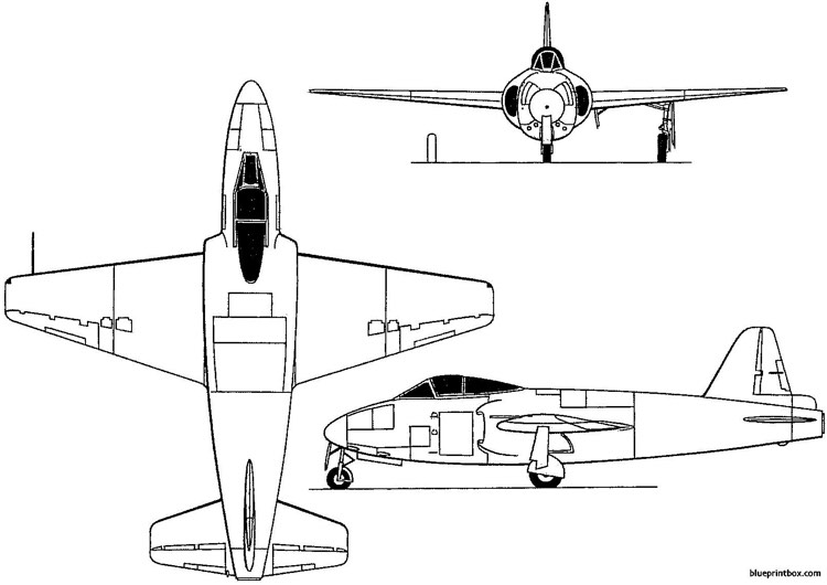 gloster e1 44 1948 england model airplane plan